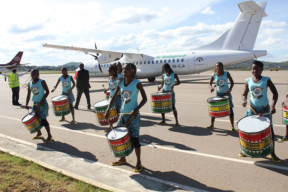 La Bloco Malagasy anime l'inauguration du nouvel avion d'Air Madagascar !