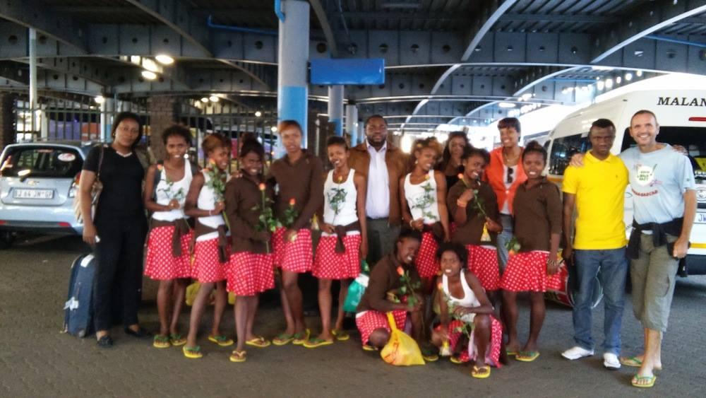 Arrivée à Johannesburg, la Bloco Malagasy a reçu un super bel accueil!