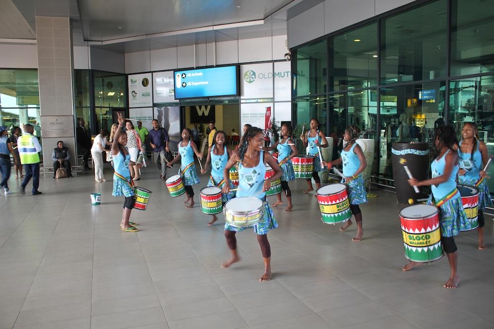 Les passagers à l'aéroport de Durban ont reçu le message de sensibilisation sur le tourisme responsable