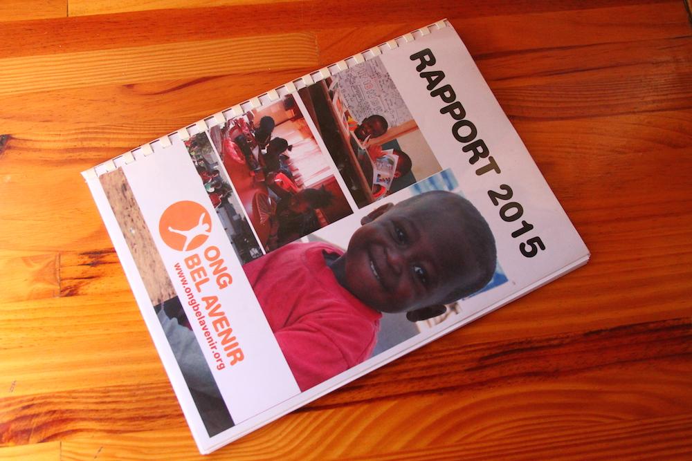 Le rapport 2015 de l'ONG Bel Avenir est disponible