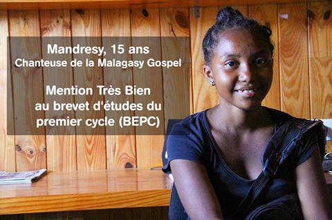 Mandresy est remarquée après le suivi scolaire des élèves du Centre d'Art et Musique