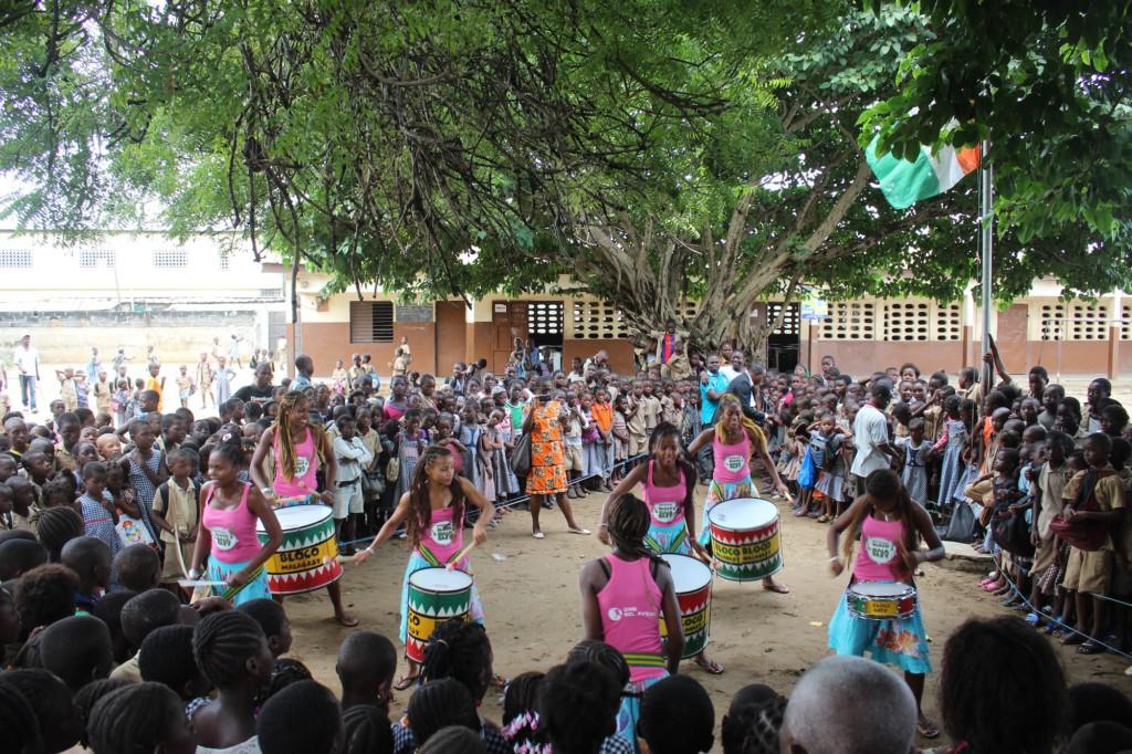 Le premier jour de spectacle pour la Bloco Malagasy