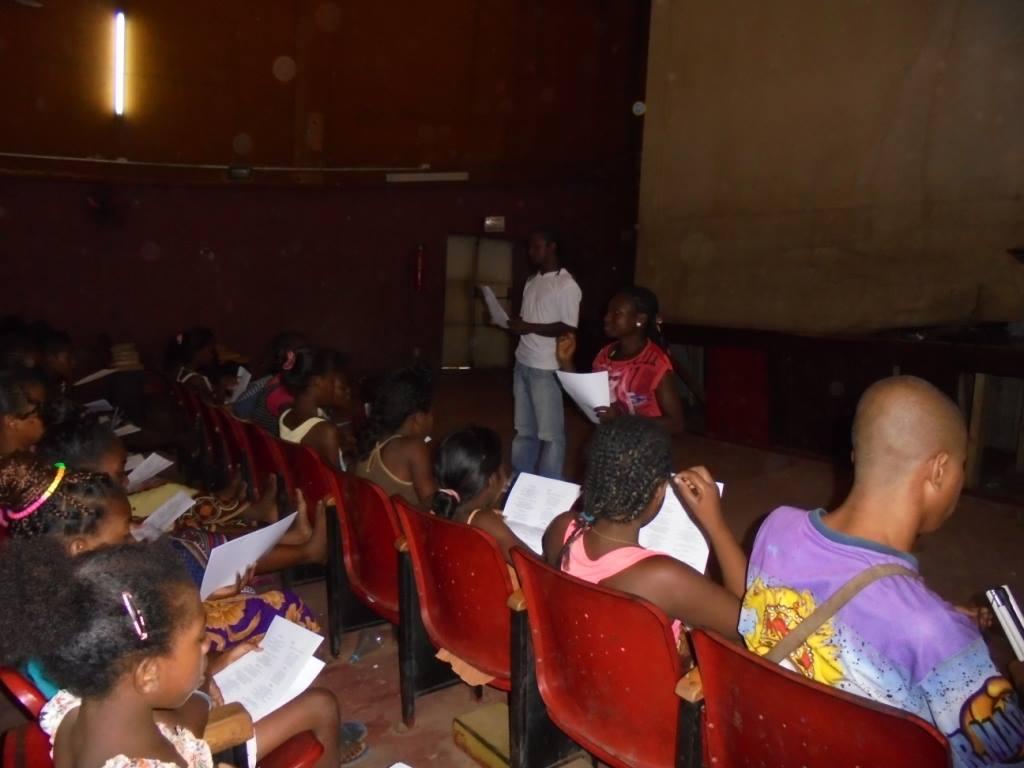 Ismaël répète avec la Malagasy Gospel