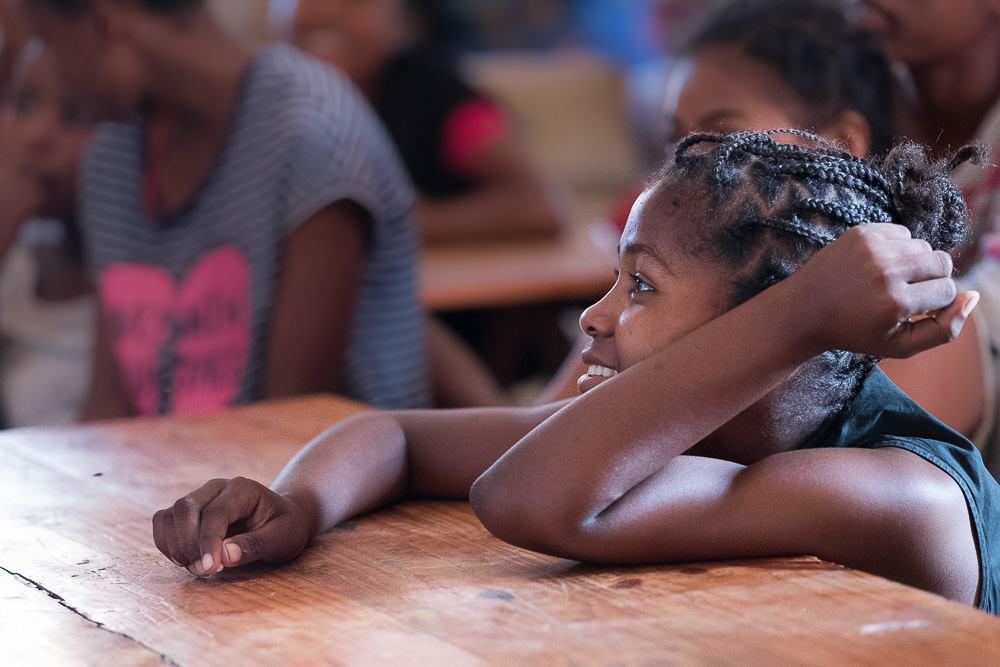 Formation sur le changement au niveau de corps pour les  filles du Foyer Social
