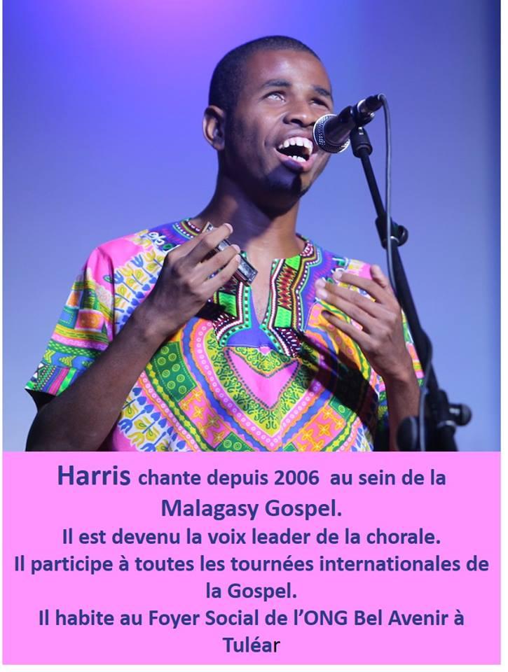 voix leader de la chorale Malagasy Gospel