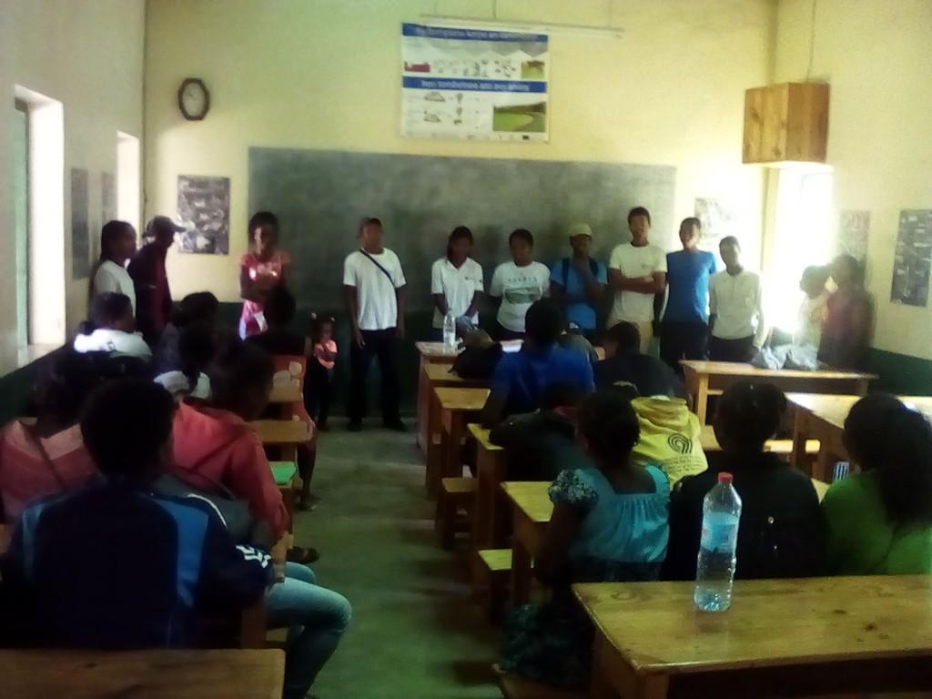 Un atelier organisé par les élèves de la ferme École de Fianarantsoa
