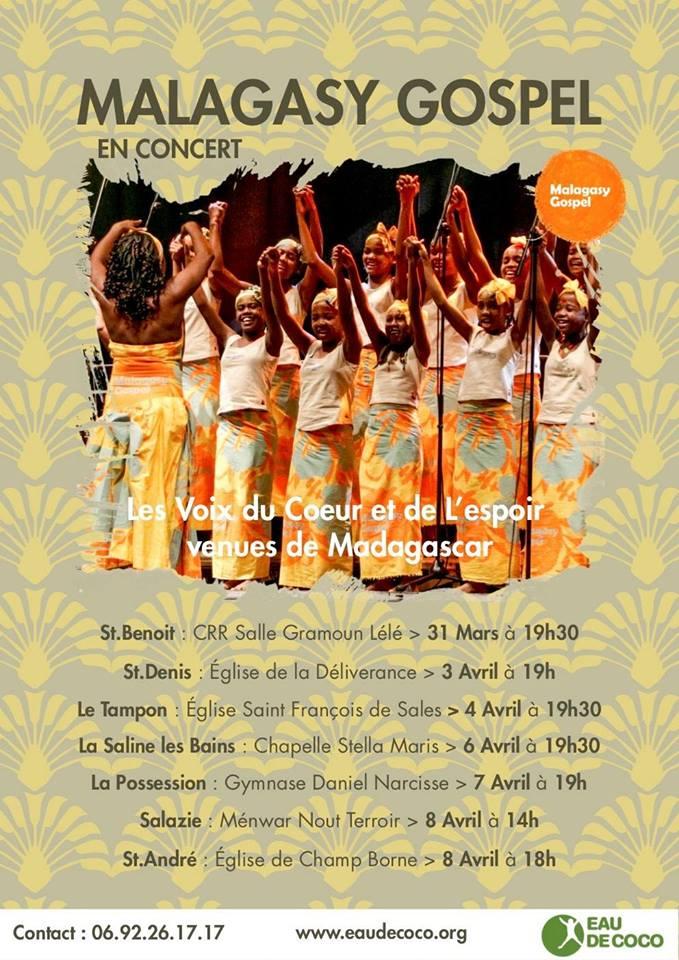 La Malagasy Gospel en concert pour la Réunion