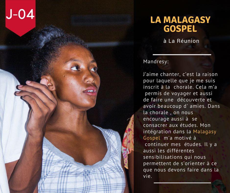J-04 avant le départ de la Malagasy Gospel